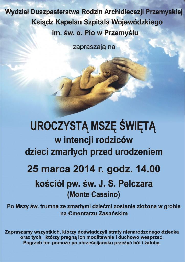 Pogrzeb dzieci zmarłych przed urodzeniem w Przemyślu 2014