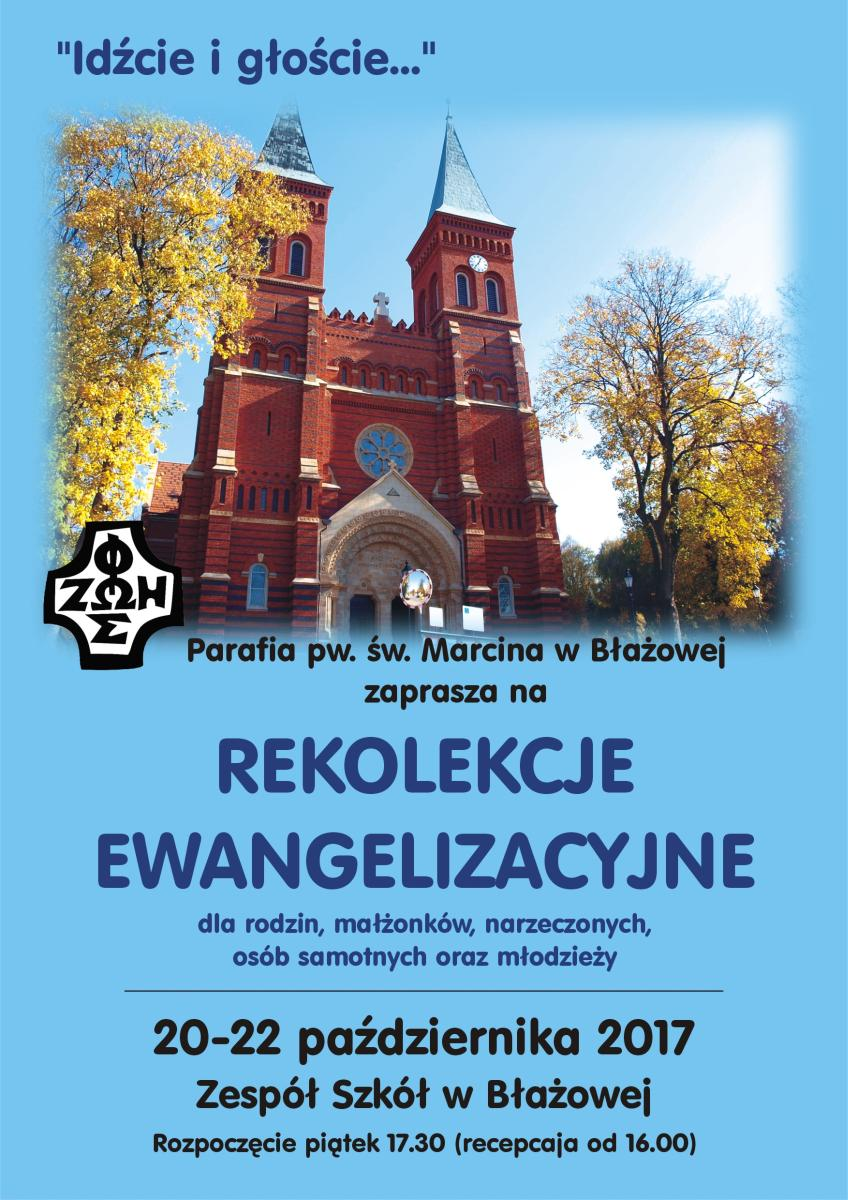 Rekolekcje ewangelizacyjne w Błażowej