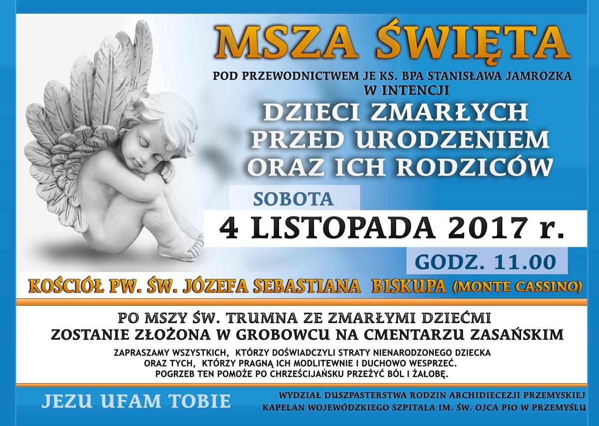Msza św. w intencji dzieci zmarłych przed urodzeniem i ich rodzin w Przemyślu