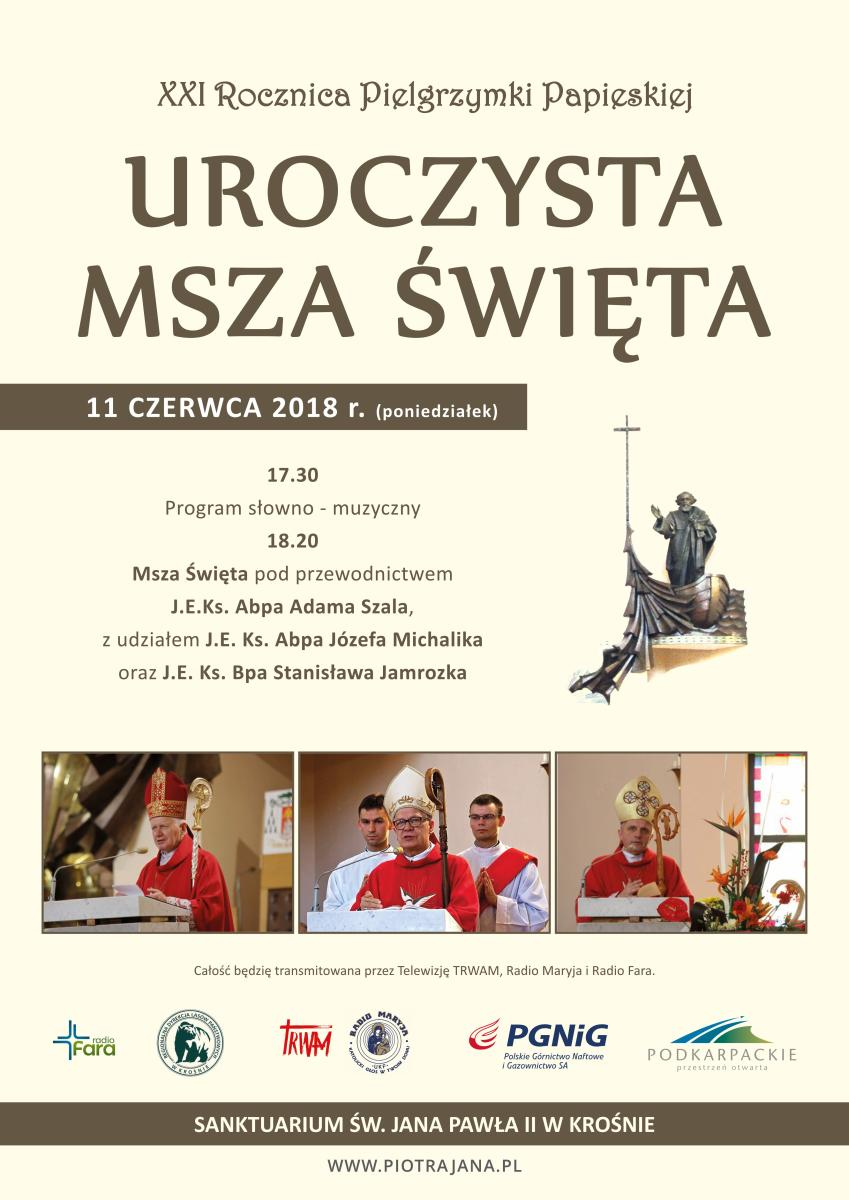 JP2 w Krośnie: uroczysta Msza Święta